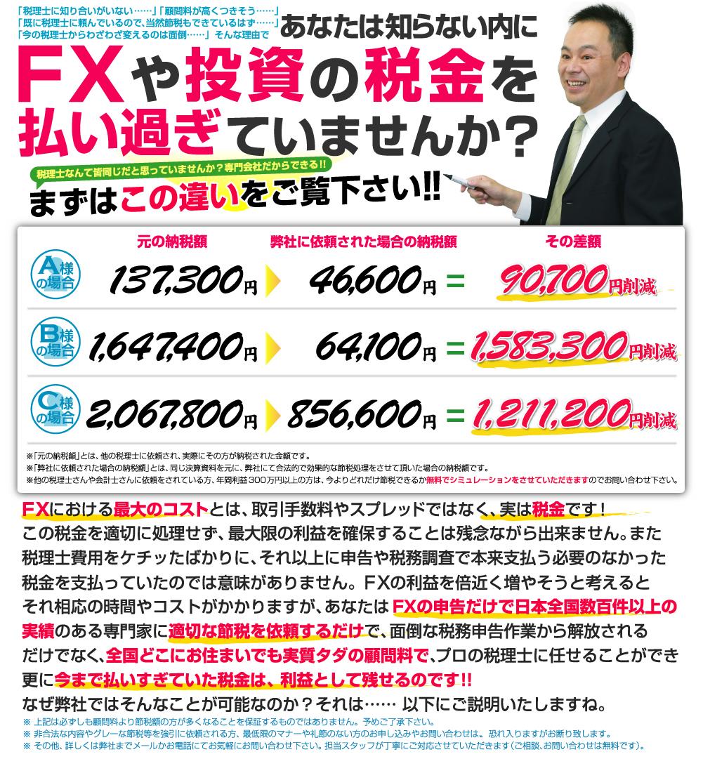 FXや投資の税金を払い過ぎていませんか?